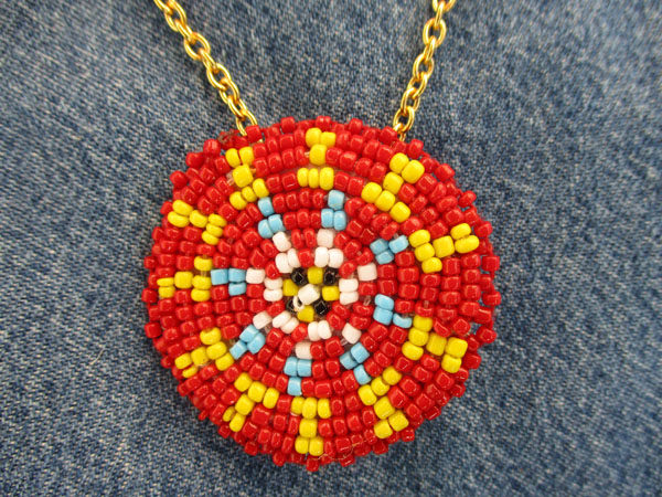 "044 1.5"" Red-Yellow-Blue Bead"