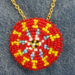 044 1.5″ Red Yellow Blue Bead Pendant
