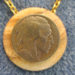 046 Indian Head Chief-Buffalo Nickel Picture Jasper Pendant