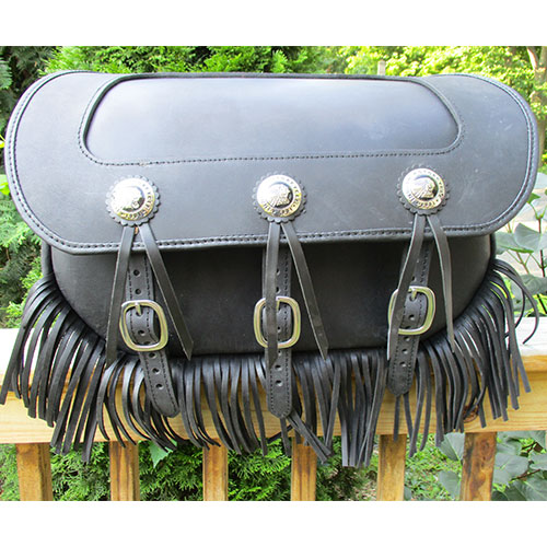 Chief Saddlebag -Stock Indian Conchos-fringe -Plain Insert $798 with mounting system