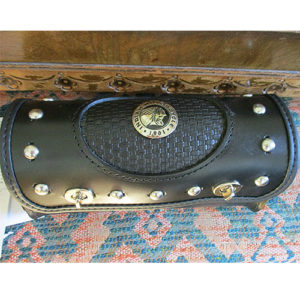 "Tool Bag with Indian Stock Concho, 10""x3.5""x5"" Basketweave -- $125"
