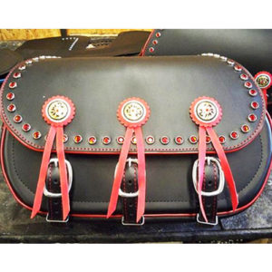 Scout Saddlebags - Red Jewels -Tandy Canyon Conchos